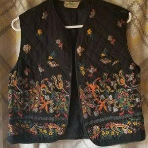 Vintage ADINI Indian Hippy Ethnic Gypsy Folk Vest